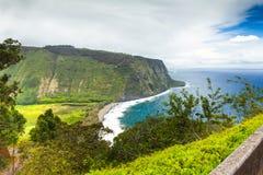 Panorama- kust- sikt Hawaii för stor ö Fotografering för Bildbyråer