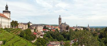 Panorama of Kutna Hora Royalty Free Stock Images