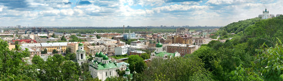 Panorama of the Kyiv Royalty Free Stock Photography
