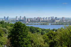 Panorama of Kyiv city stock photos