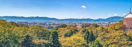 Panorama of Kyoto viewed from Kiyomizu-dera Temple. Panorama of Kyoto city viewed from Kiyomizu-dera Temple Stock Photos