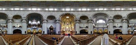 Panorama kyrkliga berlin Royaltyfria Foton