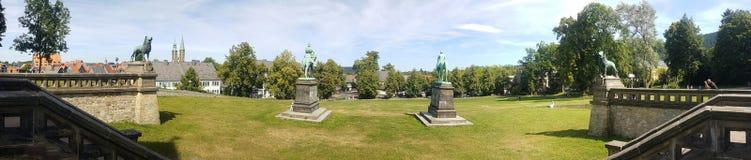Panorama Löwen Harz de Goslar Kaiserpfalz Imágenes de archivo libres de regalías