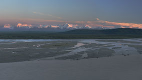 Panorama léger tardif Photographie stock