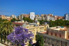 Panorama, La Alcazaba, Histiric Building, Malaga, Spain Royalty Free Stock Photography