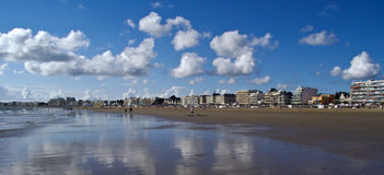 Panorama of La Baule. Morbihan, brittany, france Royalty Free Stock Photography