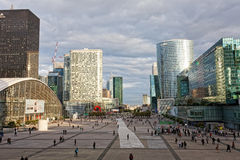 Panorama of La Defense Royalty Free Stock Images