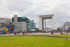 Panorama of La Defense Royalty Free Stock Photos