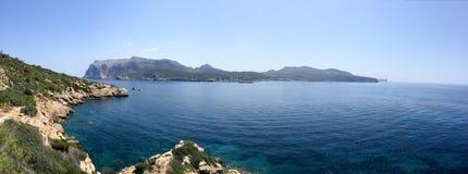 Panorama of la Dragonera Island, Mallorca Royalty Free Stock Photos