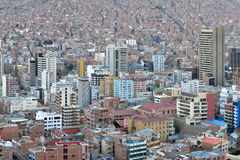 Panorama of La Paz, Bolivia Stock Photography