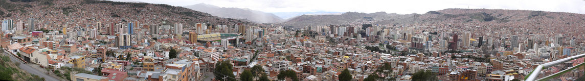 Panorama of La Paz city Stock Image