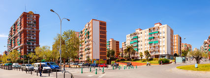 Panorama of La Salut district of Badalona. Barcelona Stock Images
