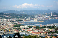 Panorama of La Spezia (Liguria, Italy) Stock Images