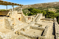 Panorama of Labyrinth in Knossos Palace Stock Photo
