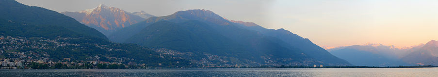 Panorama of Lago Maggiore Royalty Free Stock Photography