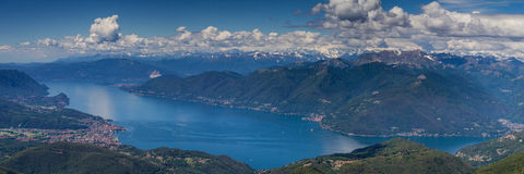Panorama of the Lago Maggiore Royalty Free Stock Photo