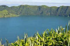 Panorama of Lagoa da fogo Royalty Free Stock Photos