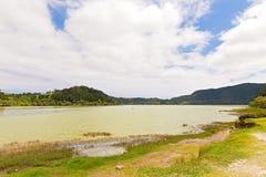 Panorama Lagoa das Furnas, Furnas, Sao Miguel, Azores, Portugal. Royalty Free Stock Image