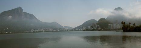 Panorama of Lagoa Rodrigo de Freitas in Rio de Janeiro. Brazil Royalty Free Stock Photos