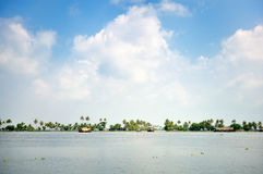 Panorama of Lagoon Royalty Free Stock Photography