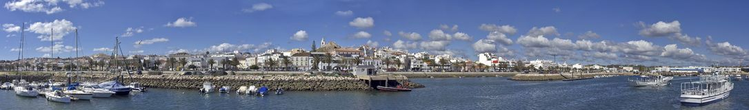 Panorama on Lagos city in Portugal. Panoramic view on Lagos city in Portugal Stock Image