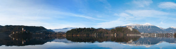 Panorama of the lake Stock Photos