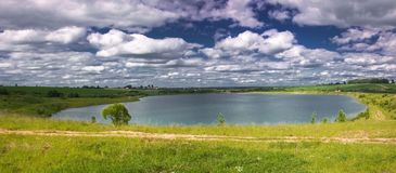 Panorama of the lake Royalty Free Stock Photography