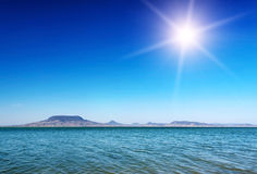 Panorama at Lake Balaton Royalty Free Stock Images