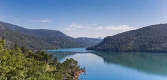 Panorama of the lake in Cazorla National Park Royalty Free Stock Photography