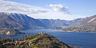 Panorama lake Como Stock Photography