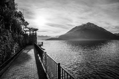 Panorama of lake Como Stock Images