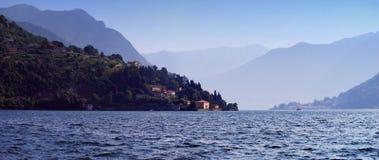Panorama of Lake Como view from Cernobbio. Lombardy, Italy stock image