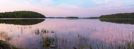 Panorama of the lake at dawn Royalty Free Stock Photography