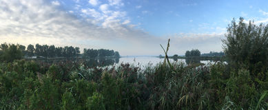 Panorama from the lake De Geeuw Royalty Free Stock Photo