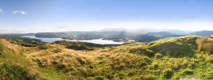 Panorama Lake district Stock Photo
