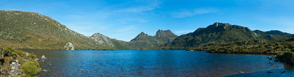Panorama of Lake dove cradle mountain, Tasmania Royalty Free Stock Image