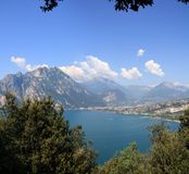 Panorama of  lake Garda Royalty Free Stock Images