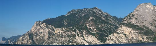 Panorama of Lake Garda, Italy Stock Images