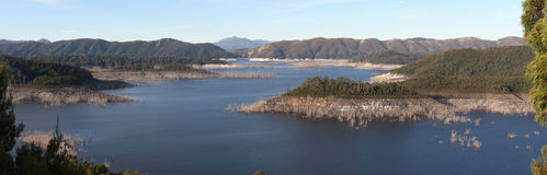 Panorama of Lake Gordon Royalty Free Stock Photo