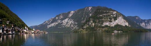 Panorama of Lake Hallstatt Royalty Free Stock Photography
