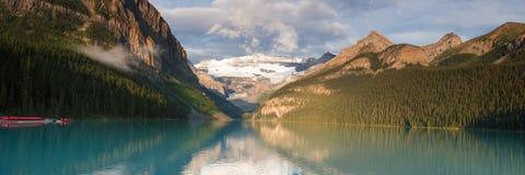 Panorama of Lake Louise Royalty Free Stock Photo