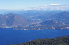 Panorama of Lake Maggiore Stock Photo