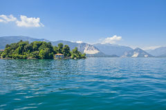 Panorama of Lake Maggiore, Italy Royalty Free Stock Images