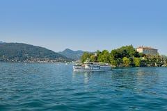 Panorama of Lake Maggiore, Italy Royalty Free Stock Photo