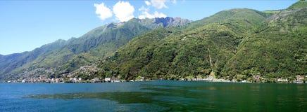 Panorama Lake Maggiore in Switzerland Royalty Free Stock Photo