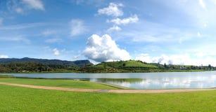 The panorama of lake in Nuwara Eliya Stock Image