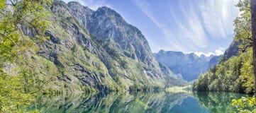 Panorama lake Obersee Royalty Free Stock Images