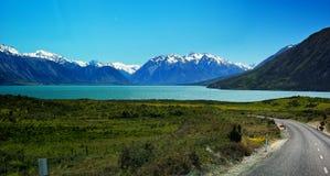 Panorama of Lake Ohau Stock Photos