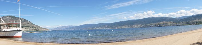 Panorama, Lake Okanagan Royalty Free Stock Photo