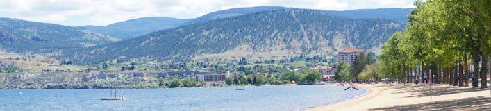 Panorama, Lake Okanagan Stock Image